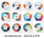 vector circle infographics set. ... | Shutterstock .eps vector #261211193