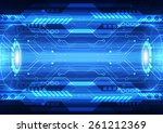 abstract future speed... | Shutterstock .eps vector #261212369