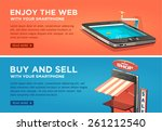enjoy the web with your... | Shutterstock .eps vector #261212540
