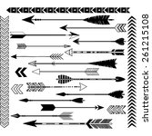 black arrow clip art set | Shutterstock .eps vector #261215108