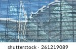 reflected in the glass facade... | Shutterstock . vector #261219089