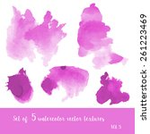 set of watercolor strokes and... | Shutterstock .eps vector #261223469