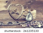 vintage oval pendant with shiny ... | Shutterstock . vector #261235133