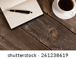 Notebook With Pen And Coffee ...