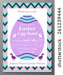 vector illustration of easter... | Shutterstock .eps vector #261239444