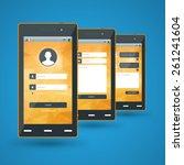 modern smartphone. flat design...