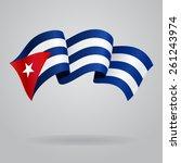 cuban waving flag. vector... | Shutterstock .eps vector #261243974