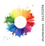 handmade color wheel ... | Shutterstock . vector #261252056