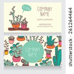 business card design with... | Shutterstock .eps vector #261264464