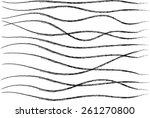 vector black lines background | Shutterstock .eps vector #261270800