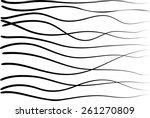 vector black lines background | Shutterstock .eps vector #261270809