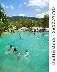 krabi thailand  february 28  ...   Shutterstock . vector #261274790