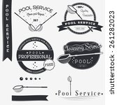 pool service. clean and repair. ... | Shutterstock .eps vector #261282023
