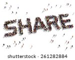 large group of people seen from ...   Shutterstock . vector #261282884