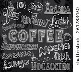 coffeehouse chalk drawing... | Shutterstock .eps vector #261283460