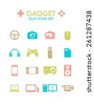 vector flat icon set   gadget