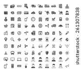 100 universal icons. simplus...   Shutterstock .eps vector #261307838
