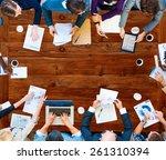 diversity business team...   Shutterstock . vector #261310394