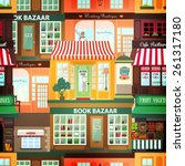 shops and vitrine elements.... | Shutterstock .eps vector #261317180