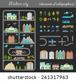 elements of modern city night.... | Shutterstock .eps vector #261317963