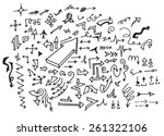 vector hand drawn arrows set... | Shutterstock .eps vector #261322106