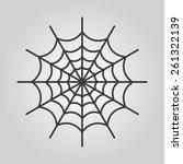 the spiderweb icon. web symbol. ...   Shutterstock .eps vector #261322139