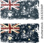 old scratched flag. vector... | Shutterstock .eps vector #261323369