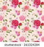 rose bouquet design seamless...   Shutterstock .eps vector #261324284