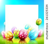 sweet easter greeting card with ... | Shutterstock .eps vector #261325334