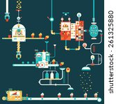 cupcake factory infographics...   Shutterstock .eps vector #261325880