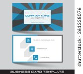 business card template in flat... | Shutterstock .eps vector #261328076