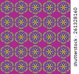 tile pattern with flowers | Shutterstock .eps vector #261328160