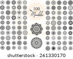 ornament round set with mandala.... | Shutterstock .eps vector #261330170