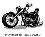 vector cartoon motorbike.... | Shutterstock .eps vector #261330260