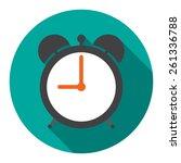 Alarm Clock In Flat Vector...