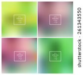 abstract colorful blurred... | Shutterstock .eps vector #261343550