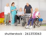 group of senior people with and ... | Shutterstock . vector #261353063