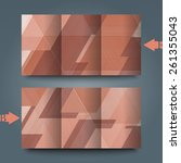 brochure template with abstract ... | Shutterstock . vector #261355043