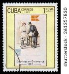 cuba   circa 1987  a stamp... | Shutterstock . vector #261357830