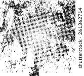 grunge halftone dots vector...   Shutterstock .eps vector #261362714