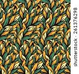 vector seamless pattern.... | Shutterstock .eps vector #261376298