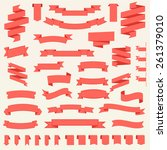 big vector set of ribbons.... | Shutterstock .eps vector #261379010