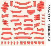 big vector set of ribbons.... | Shutterstock .eps vector #261379010