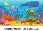 Seamless Underwater Cartoon...