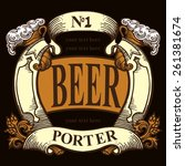 beer label design contains... | Shutterstock .eps vector #261381674