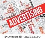 advertising word cloud ... | Shutterstock .eps vector #261382190
