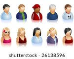 a set of icons representing... | Shutterstock .eps vector #26138596