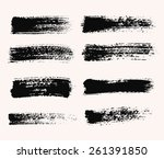 brush strokes set. paintbrush... | Shutterstock .eps vector #261391850