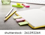 office supply collection  ... | Shutterstock . vector #261392264