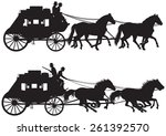 Stagecoach Silhouettes  Old...
